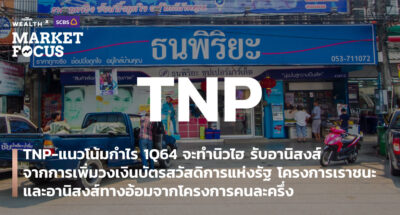 TNP-แนวโน้มกำไร 1Q64 จะทำนิวไฮ รับอานิสงส์จากการเพิ่มวงเงินบัตรสวัสดิการแห่งรัฐ โครงการเราชนะ และอานิสงส์ทางอ้อมจากโครงการคนละครึ่ง