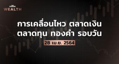 การเคลื่อนไหวตลาดเงิน ตลาดทุน ทองคำ รอบวัน (28 เมษายน 2564)