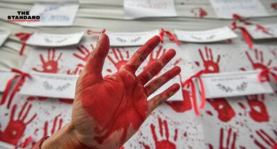 เสื้อแดงรำลึกผู้สูญเสียระหว่างชุมนุมปี 2553 ประกาศสนับสนุน 3 ข้อเรียกร้อง เคียงข้างการต่อสู้ของเยาวชน