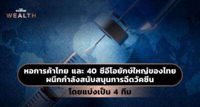 หอการค้าไทย และ 40 ซีอีโอยักษ์ใหญ่ของไทย ผนึกกำลังสนับสนุนการฉีดวัคซีน โดยแบ่งเป็น 4 ทีม