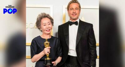 Youn Yuh-Jung ไม่กล้าฝันว่าวันหนึ่งจะได้แสดงร่วมกับ Brad Pitt หลังเป็นคนมอบรางวัลออสการ์ให้เธอ และเป็นหนึ่งในโปรดิวเซอร์เรื่อง Minari