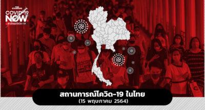 สถานการณ์โควิด-19 ในไทย (15 พฤษภาคม 2564)