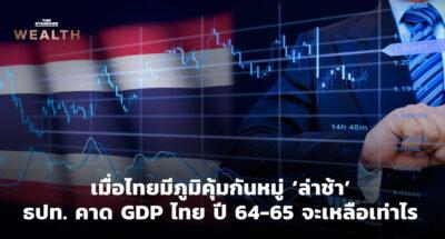 เมื่อไทยมีภูมิคุ้มกันหมู่ 'ล่าช้า' ธปท. คาด GDP ไทย ปี 64-65 จะเหลือเท่าไร