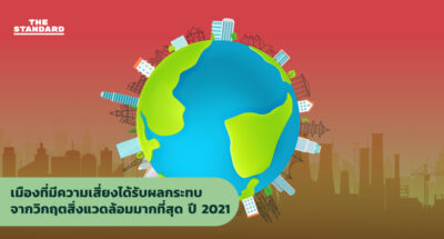 เมืองที่มีความเสี่ยงได้รับผลกระทบจากวิกฤตสิ่งแวดล้อมมากที่สุด ปี 2021