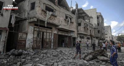 อิสราเอลโจมตีทางอากาศในกาซาต่อเนื่องสัปดาห์ที่ 2 รุนแรงกว่าที่ผ่านมา ส่งผลชาวปาเลสไตน์เสียชีวิต 197 ราย ขณะที่นานาชาติเรียกร้องหยุดยิง