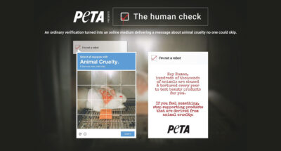 The Human Check CAPTCHA PETA
