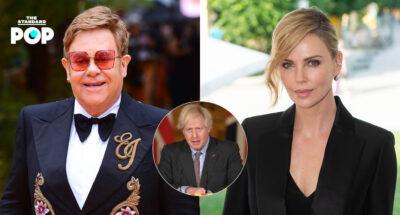 Elton John และ Charlize Theron