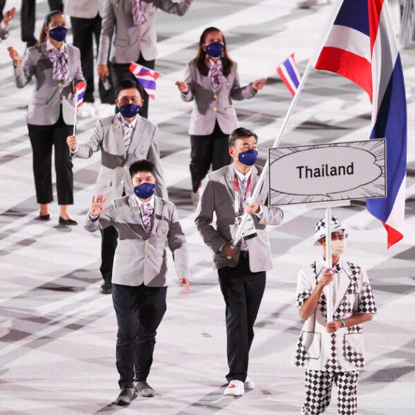 ทัพนักกีฬาไทยร่วมถวายพระพรชัยมงคล