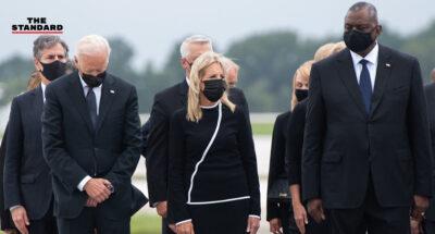 Joe Biden commemorate to american soldiers