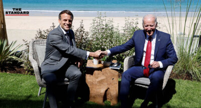 Joe Biden Emmanuel Macron