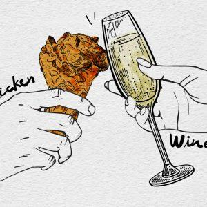 ไก่ทอด + ไวน์ = ? เมื่อเราจับคู่ไวน์กับไก่ทอดชื่อดัง